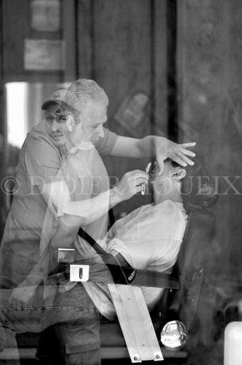 Le barbier. Italie