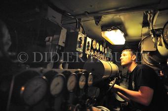 En Méditérranée. sous-marin Le Rubis