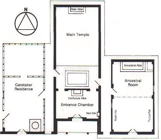Joss House floor plan