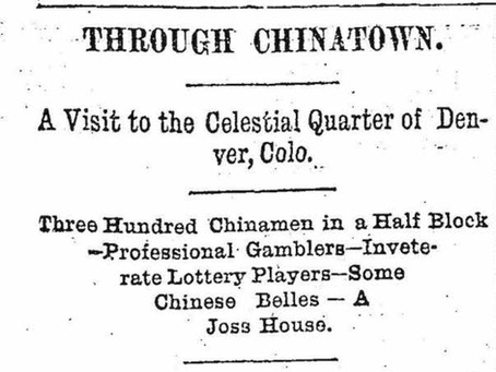 Wazee: A Brief History of Denver's Chinatown