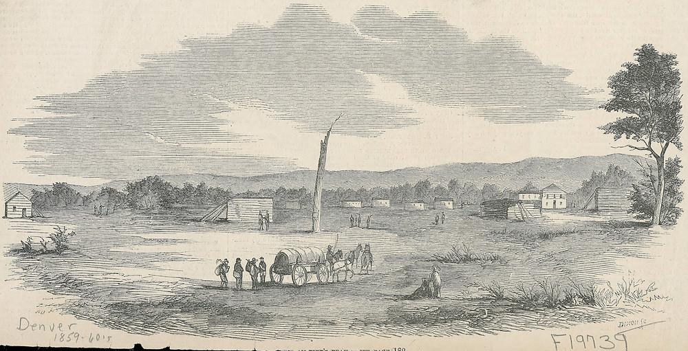 Denver 1858, founding of Denver
