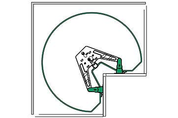 REVO90 systemet til hjørneskkaper
