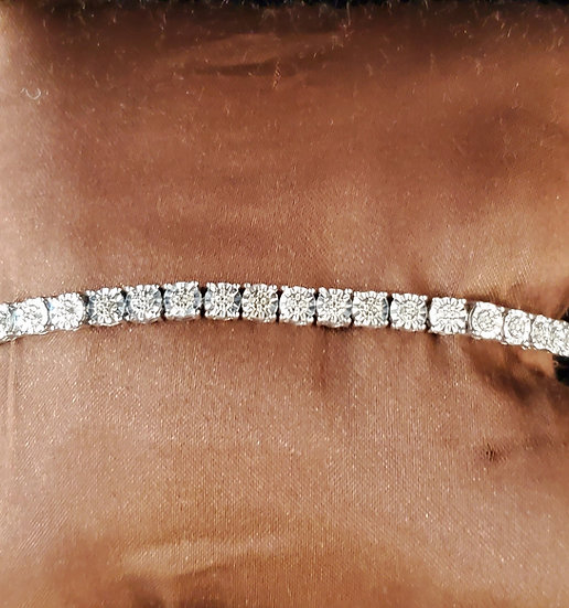 Sterling Diamond Tennis Bracelet