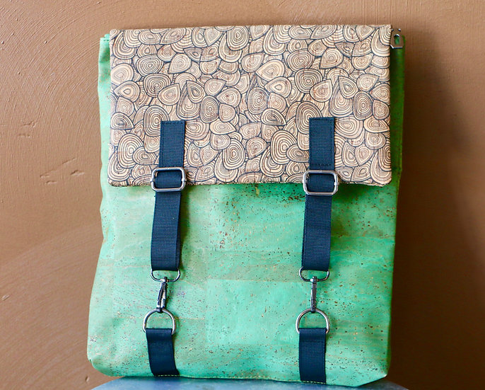 Cork Messenger Style Backpack