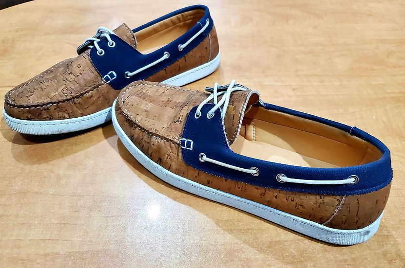 Mens Cork Boat Shoes