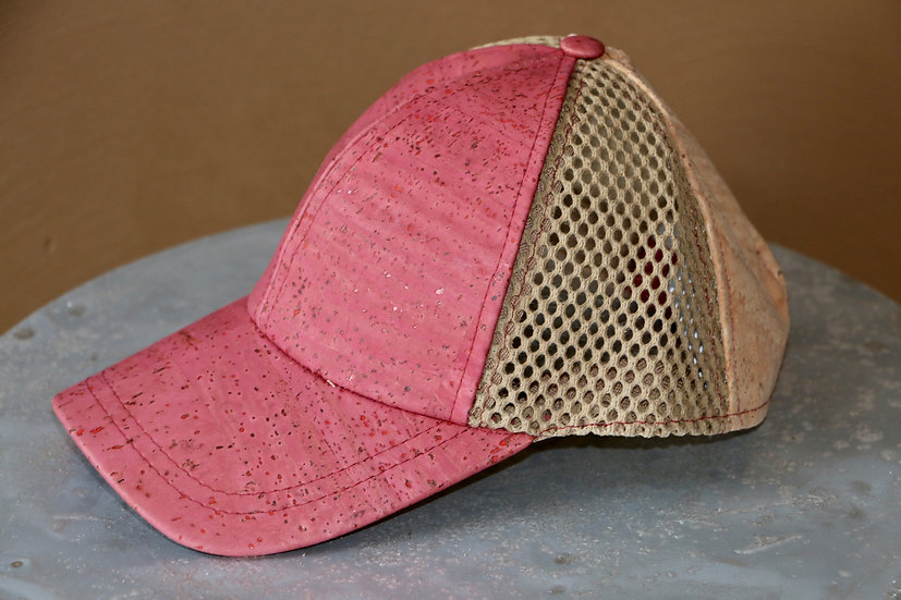Red / Cork Baseball Cap