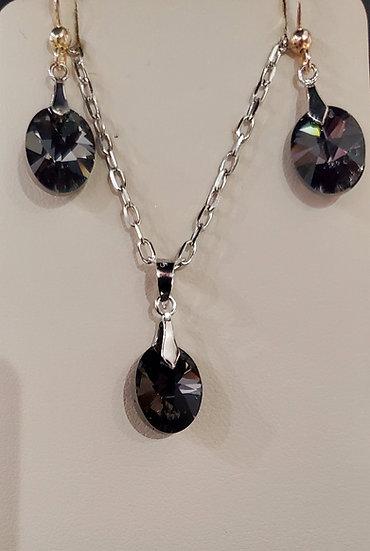 Certified Swarovski Crystal Earrings & Pendant Necklace