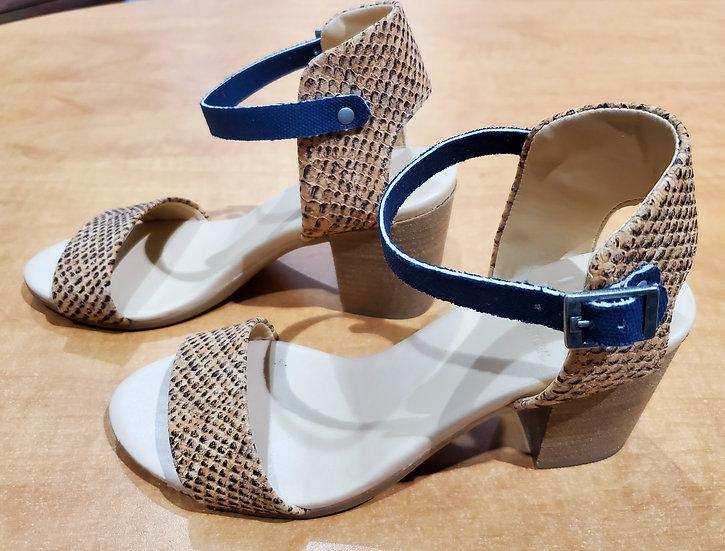 Square Heeled Ankle Strap Sandal