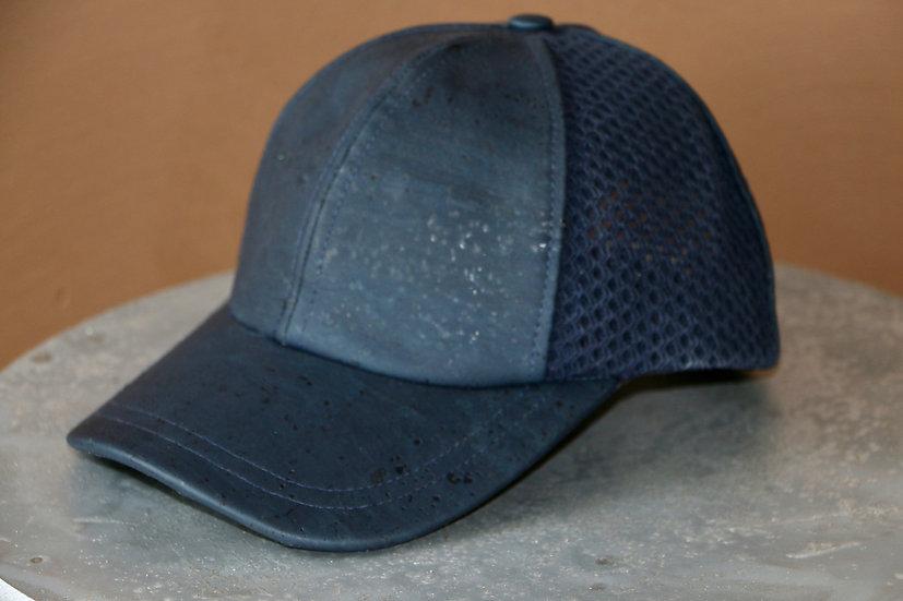 Navy Blue Cork Baseball Cap