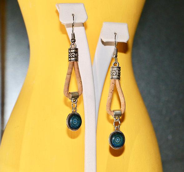 Cork Loop Earrings