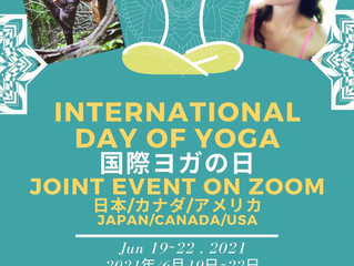 6/19~22で国際ヨガの日、無料イベントのお知らせです☆