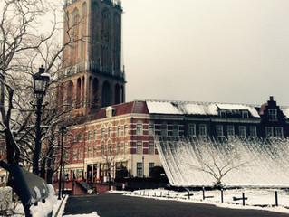 雪化粧のハウステンボス