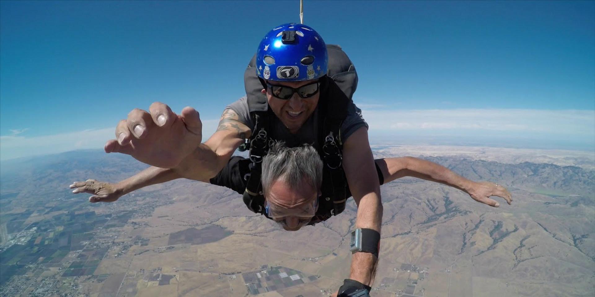 Oswaldo's June 2019 First Tandem Skydive in Hollister