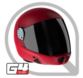 Cookie G4 Helmet, Red with tinted visor