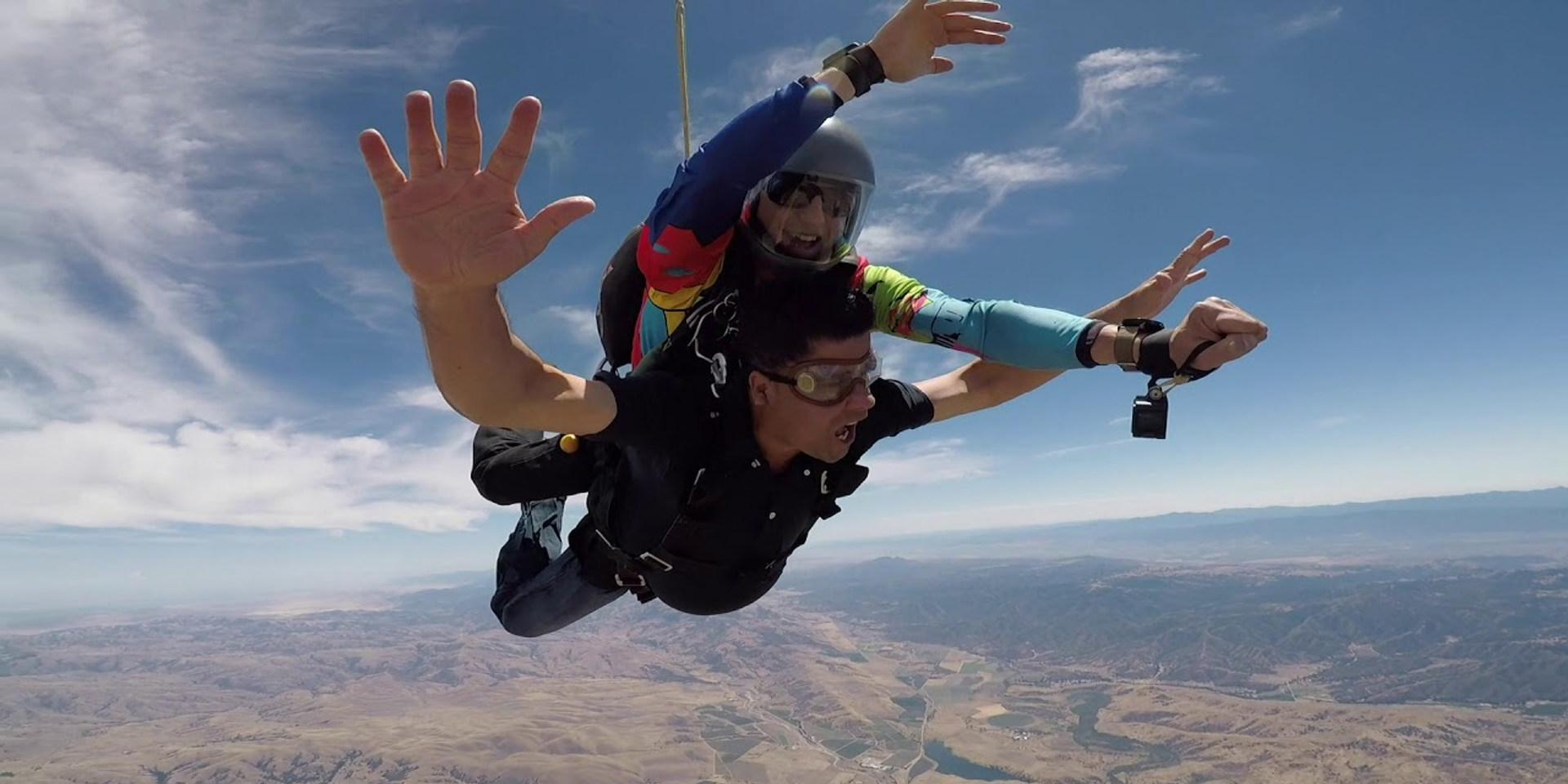 Ramesh's June 2019 First Tandem Skydive in Hollister, CA