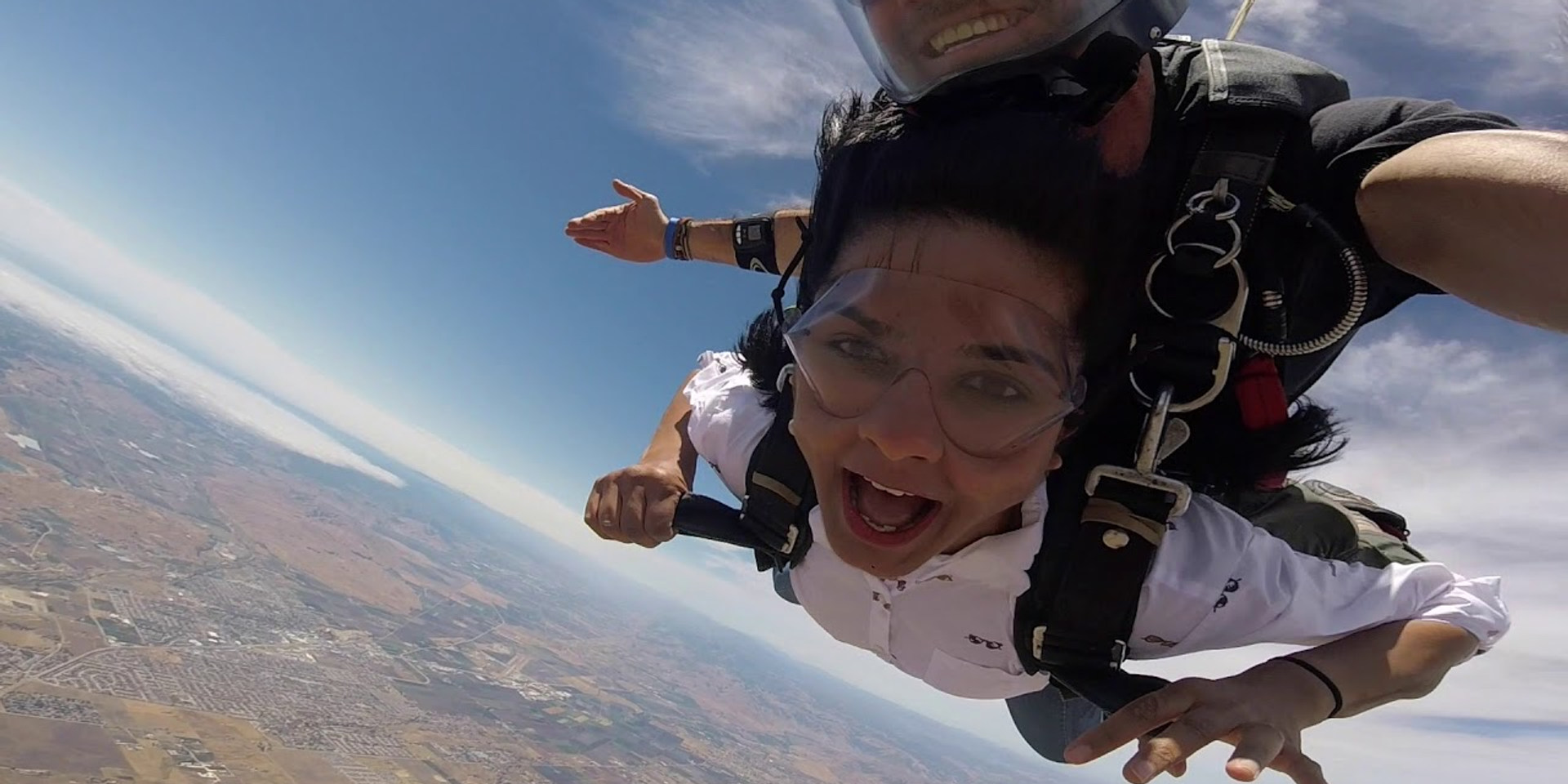 Sruthi's June 2019 First Tandem Skydive in Hollister