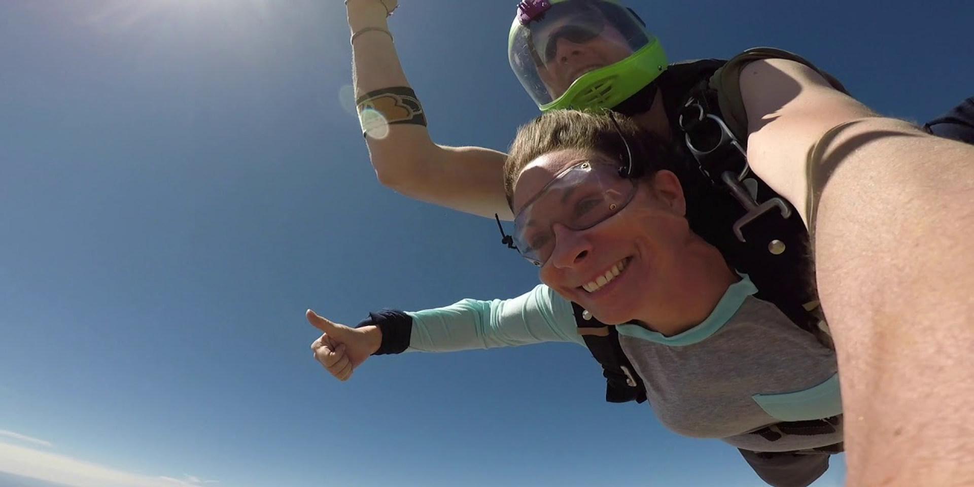 Leslie's June 2019 First Time Tandem Skydive in Hollister, CA