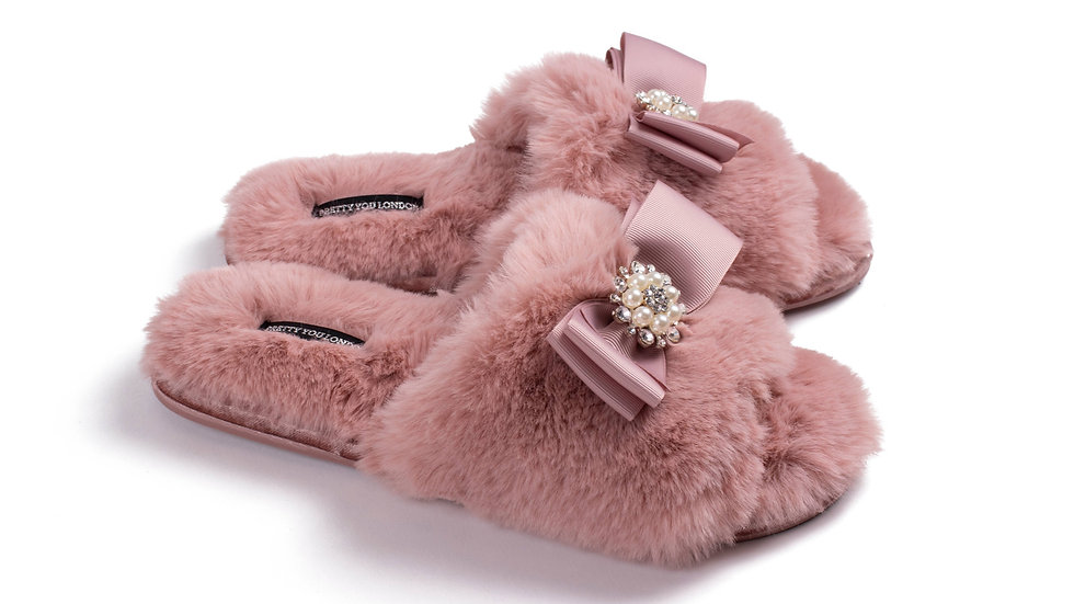Pretty You LondonEmbellished Slippers