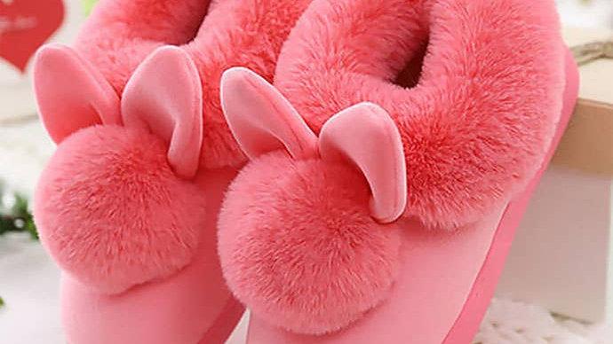 Winter Women Indoor Slippers-Pink Size: 9