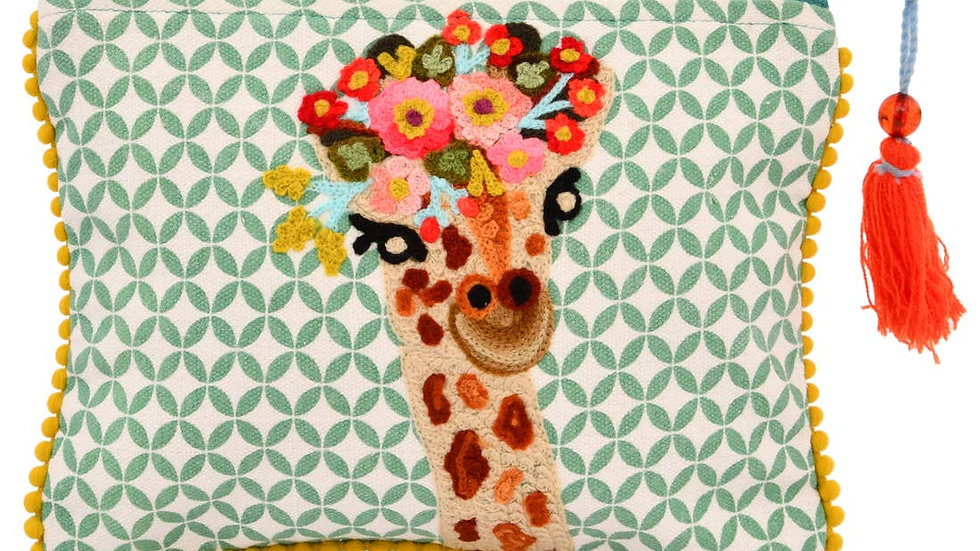 """Timid and Greacefull Giraffe Pouch 6 x 8"""""""
