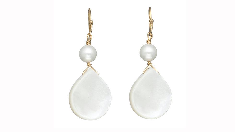 Mother of Pearl Single Drop Earrings