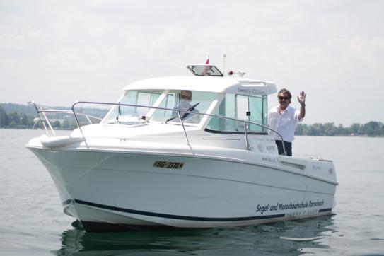 Motorbootschule Rorschach mit freundlichen und geduldigen Instruktoren