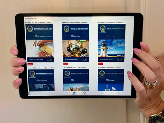 Probeprüfung - Online Trainer -Hochseeschein App`s -