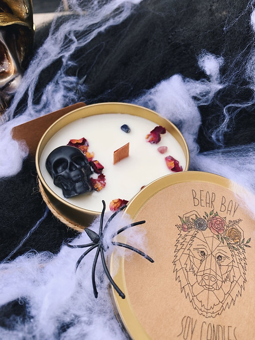Witches Brew Skull & Amethyst Soy Candle