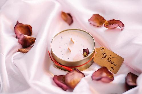 VALENTINE - Aphrodite Rose Quartz Crystal Candle