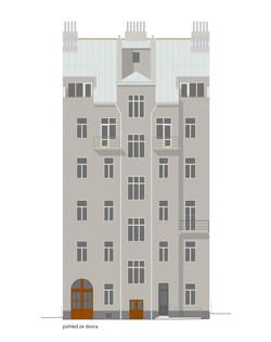 Smeralova BD_fasada dvur