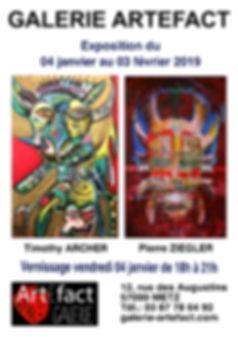 Affiche Vernissage Archer - Ziegler A2 K