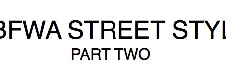MBFWA STREET STYLE II
