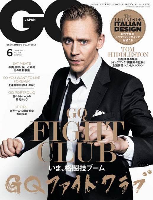 GQ,GQ JAPAN,トム ヒドルストン