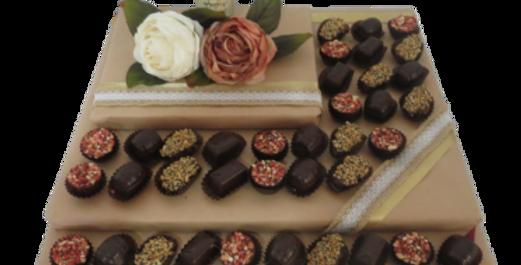 Belgian Chocolates and Chocolate Liquor Arrangement