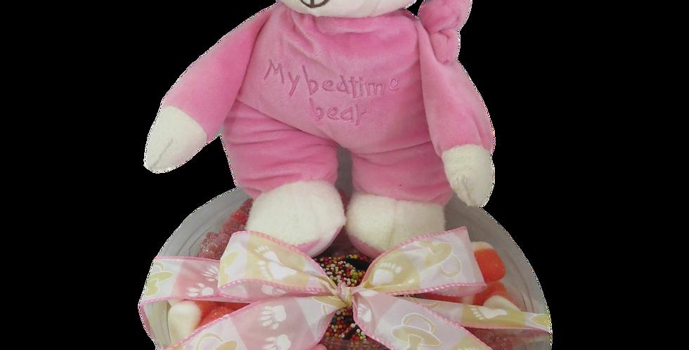 Baby Girl Platter with Teddy Bear