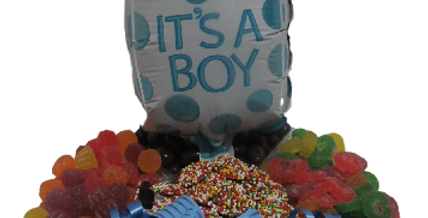 Baby Boy Platter and Balloon