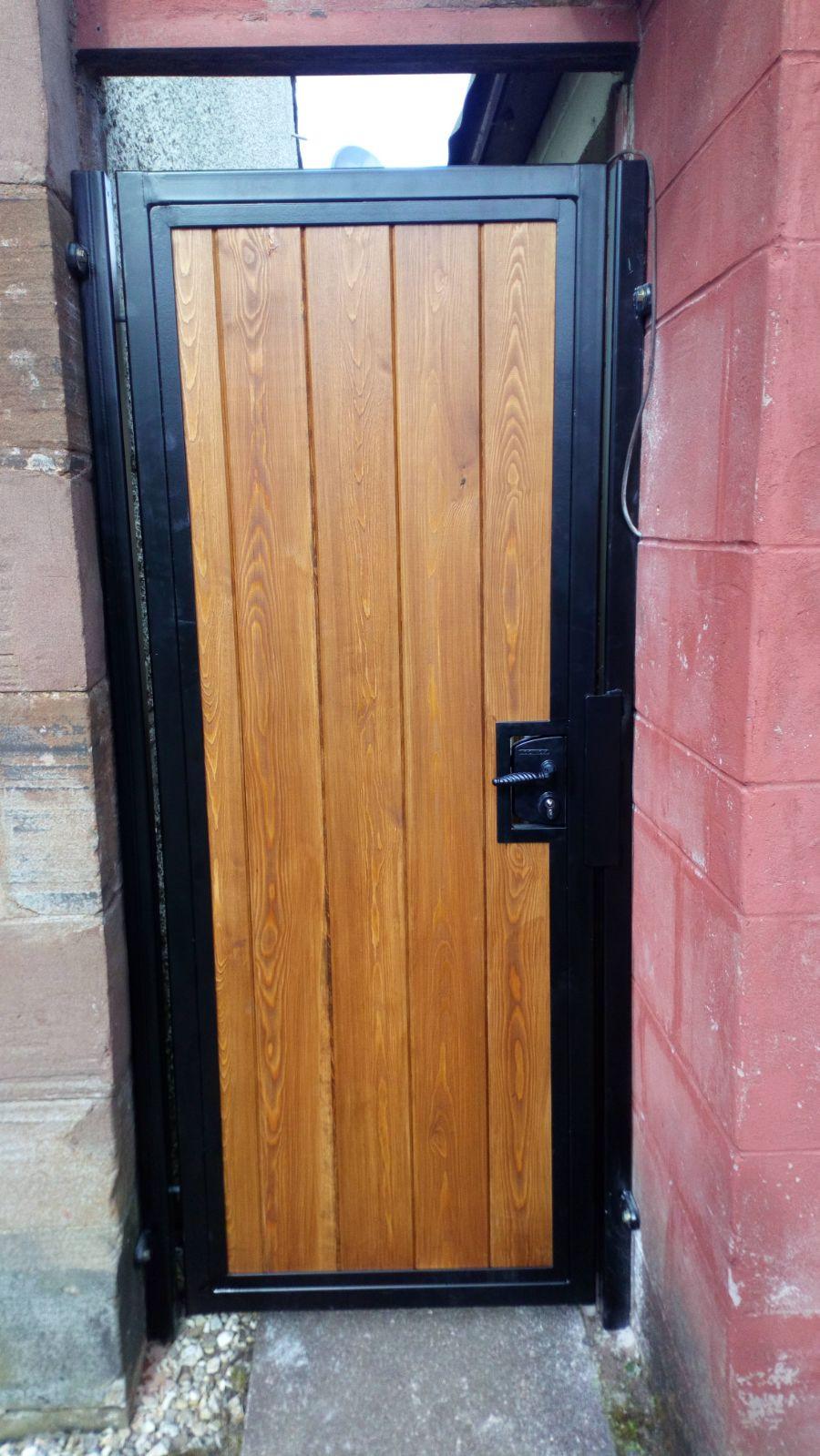 Metal and timber gate Edinburgh