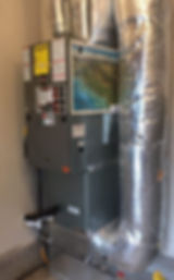 Impact Heating Furnace Duct