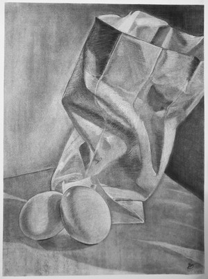 """""""Bag and Two Eggs"""" by Rose Sanatana"""