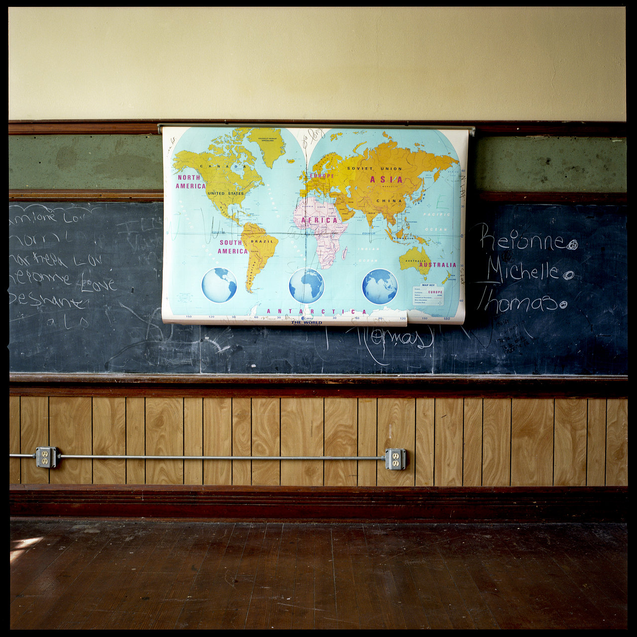 World Map.  Morganza HS