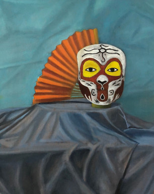 """""""Mask and Fan"""" by Linh Do"""