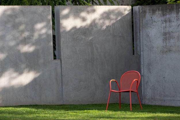"""""""Orange Chair on Green Grass"""" by Scott Larson"""