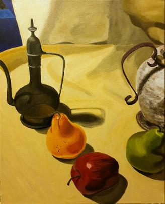 """Pears and Apple"" by Rose Sanatana"