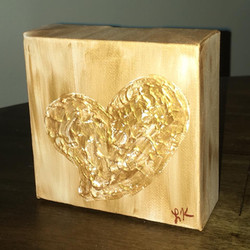 gold heart painting