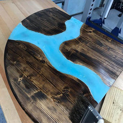 river wood table