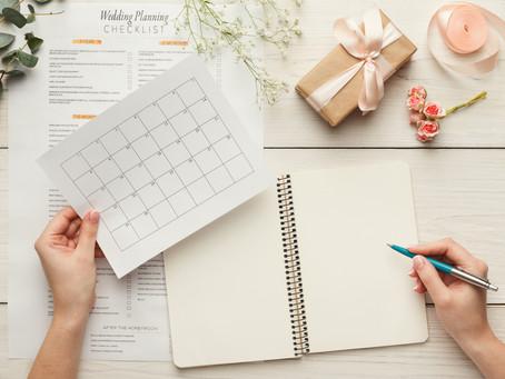 When to START planning a WEDDING?