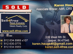 Karen Haug, SELL4FREE WELSH REALTY, Associate Broker, ABR, CRS