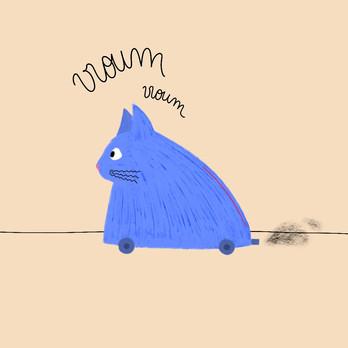 chat à roulettes