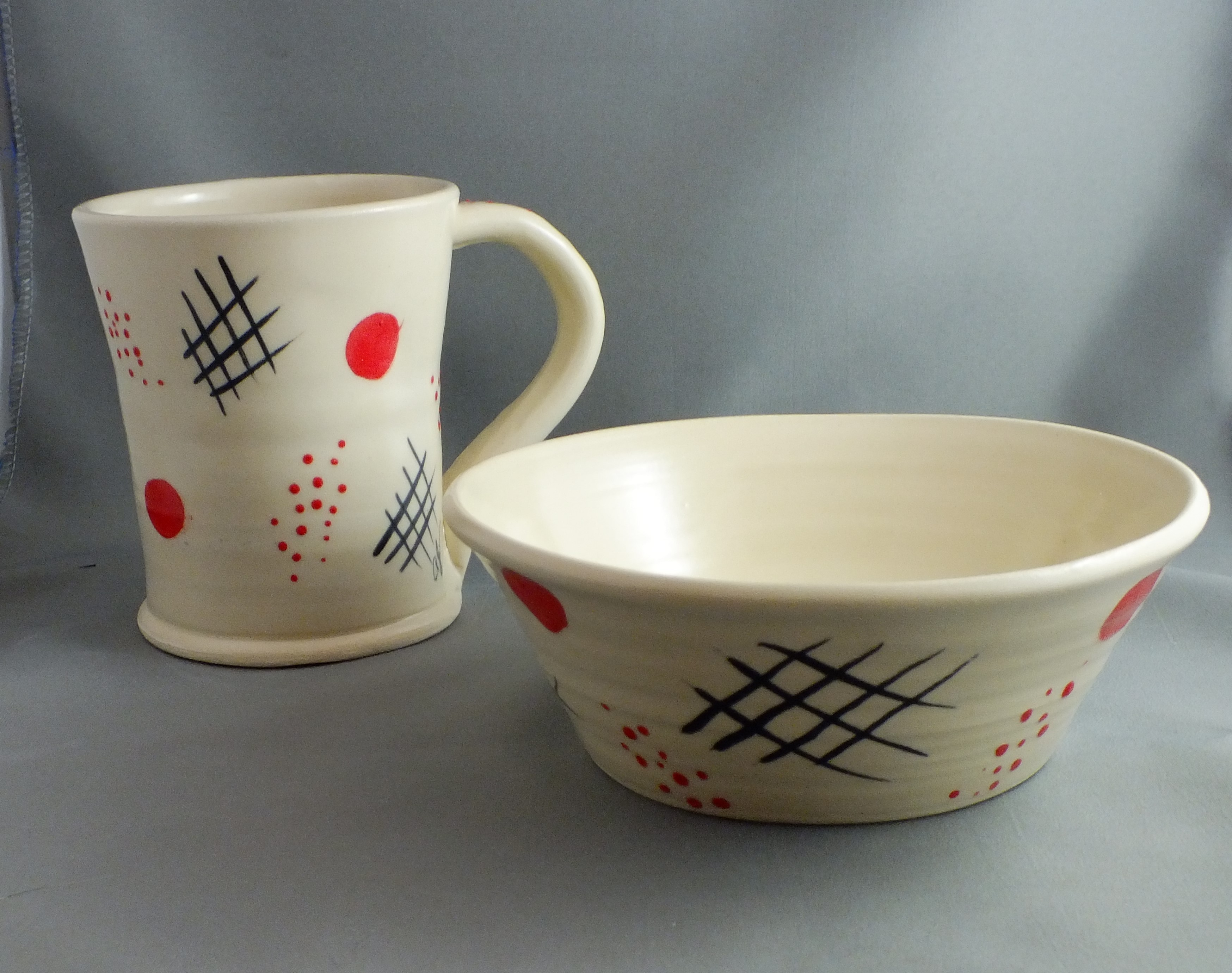 AJ mug and bowl set