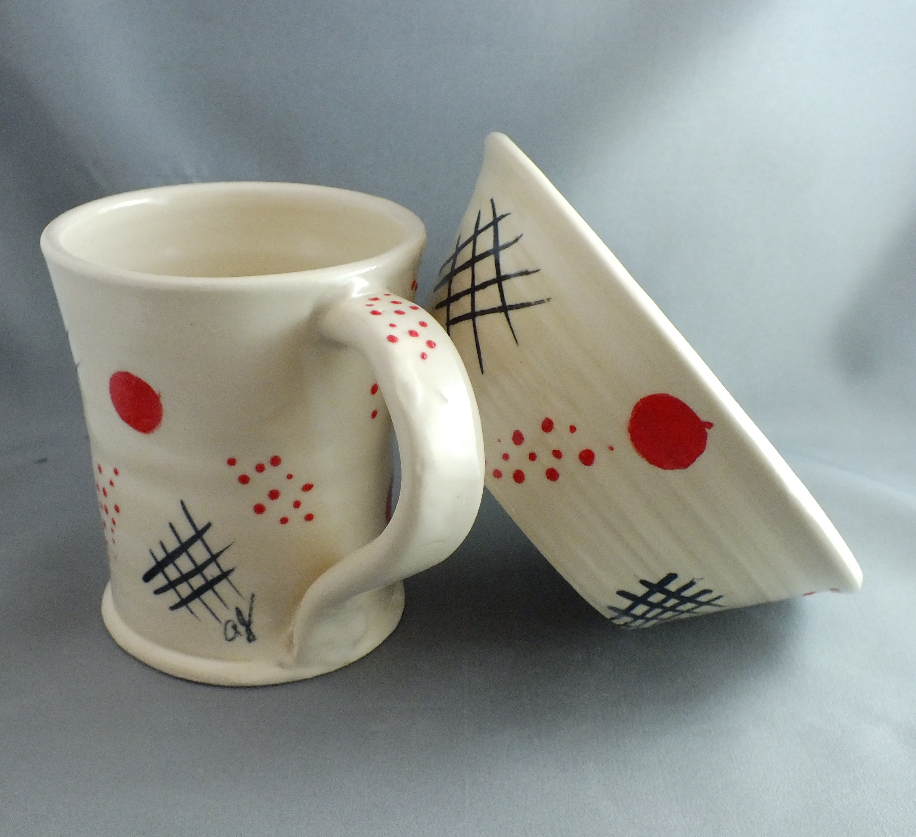 AJ mug and bowl set 2